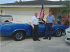 Tim (left) and Patrick (right) Calhoun, with Tim's '71 Cutlass. Photo courtesy of Tim Calhoun