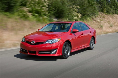 The 2012-MY Camry SE model.