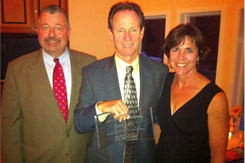 (L-R) Mike Moynihan, President and CEO, United Way of Camden County; Bill Kwelty, Nathan Asbell M.D. Humanitarian Award recipient; Mindy Holman, Chair of the Board of the United Way of Camden County