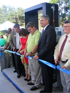 City leaders and stakeholders celebrated the opening of the CNG station on Oct. 7.