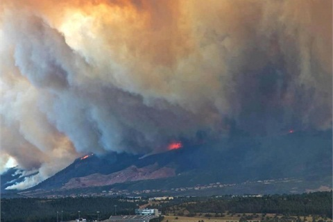 The Waldo Canyon fire began June 23 and took a turn for the worse on June 26. Photo courtesy of the City of Colorado Springs.
