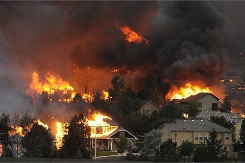 Nearly 350 homes were destroyed in the Waldo Canyon fire. Photo courtesy of the City of Colorado Springs