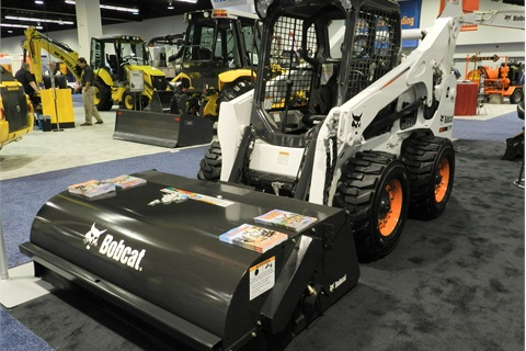 The Bobcat S150 featured at APWA's 2012 International Congress & Expo.