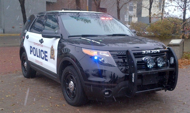 Edmonton's Explorer Police Interceptor Utility vehicle. Photo by Noreen Remtulla.