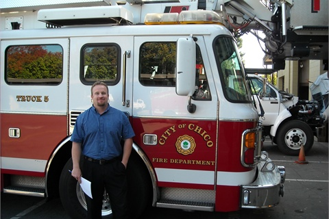 Erik Gustafson, fleet manager for the City of Chico, helped reduce the City's fleet replacement budget by $1.6 million, nearly half of which was from taking a reserve fire ladder truck out of the replacement budget.