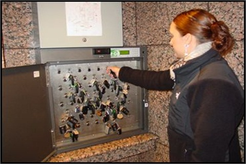 Seattle's new KeyValet system with key boxes allows for automated key pickup, reducing staff time needed to manage motor pool vehicle keys.