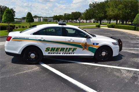 The Sheriff's Office's new Ford Police Interceptor sedan. Photos courtesy Marion County Sheriff's Office.