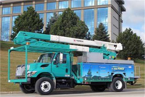 Pictured is a vehicle delivered to Marshfield Utilities. Photo courtesy Odyne Systems.