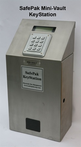 Pictured is a mini key vault from SafePalk.