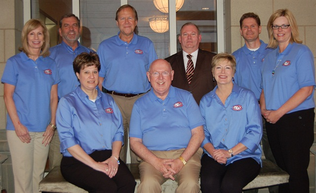Pictured are the NCSFA board and members. Standing (l-r) are Barb Bonansinga, State of Illinois; Chris Hoffman, Oklahoma State University; Scott Madsen, State of Colorado; Clay Chandler, State of West Virgina; Matt Wade, Agile Fleet corporate board member; and Cindy Dixon, State of Missouri. Seated (l-r) are: Jeannie Wilson, Missouri DOT; Mike Hardesty, University of Indiana, and Dr. Teresa Davis, University of Pennsylvania.