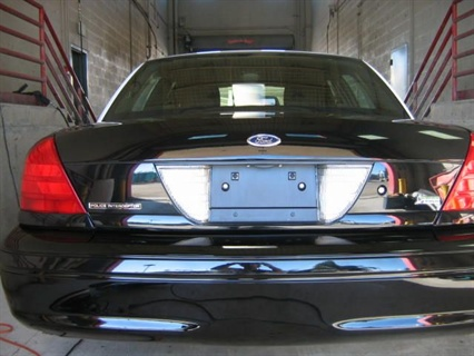 Santa Ana's Permagard-treated police sedan.
