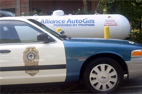 The Raleigh, N.C., Police Department converted 10 patrol cars, yielding an estimated annual savings of at least $30,000 in fuel costs.