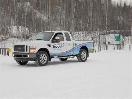 The Alaska Natural Gas Development Authority (ANGDA) tested the propane-fueled F-250 in temperatures lower than 50 degrees below zero.