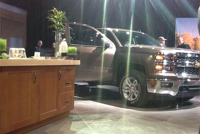 GM showed the all-new Silverado at a press conference in Detroit. Photo by Lauren Fletcher.