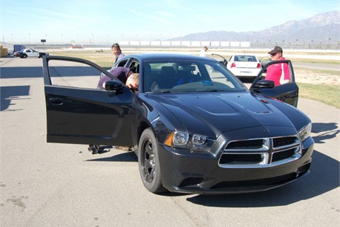 Pictured is a Dodge charger during 2010 Los Angeles Sheriff's Department testing. Photo courtesy of Police Magazine.