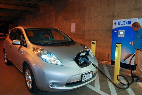 The DC quick charger can charge plug-in vehicles from 0-80 percent charged in less than 30 minutes. Photo courtesy WSDOT.