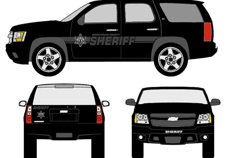 Shown is one of the graphics options that will be used on Washtenaw County Sheriff's Office vehicles. Photo courtesy of Washtenaw County.