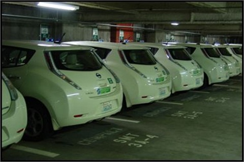 The City of Seattle replaced 26 existing motor pool vehicles with all-electric Nissan Leafs.