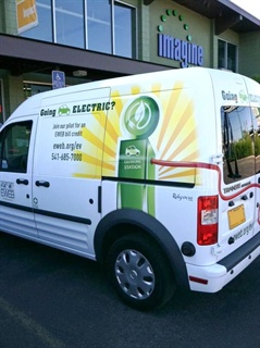 EWEB expects to save money in the long run by purchasing the all-electric Ford Transit Connect.