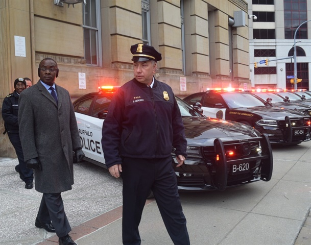 Buffalo Mayor Byron Brown and Buffalo PD Commissioner Daniel Derenda