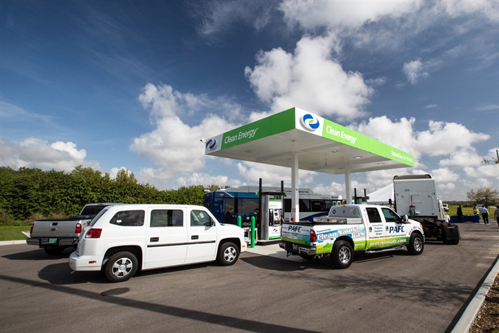 gallery photo courtesy of clean energy fuels public cng station opens at orlando airport. Black Bedroom Furniture Sets. Home Design Ideas