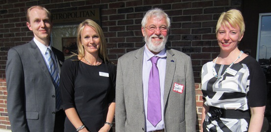 Pictured are John Scharffbillig (with beard) with Jon Hunter, Kelly Marczak and Lisa Thurstin of the American Lung Association in Minnesota Outdoor Air Division.
