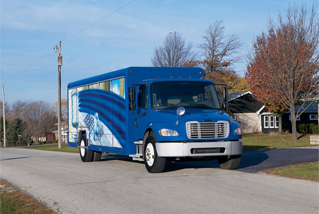 Photo of Freightliner Business Class M2 truck courtesy of Daimler Trucks North America.