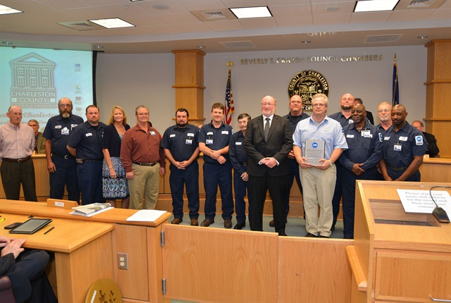 The Blue Seal of Excellence Recognition Program Plaque was awarded to Charleston County Fleet Operations in front of Charleston County Council during its Dec. 10, 2013 meeting. Photo by Shawn Smetana
