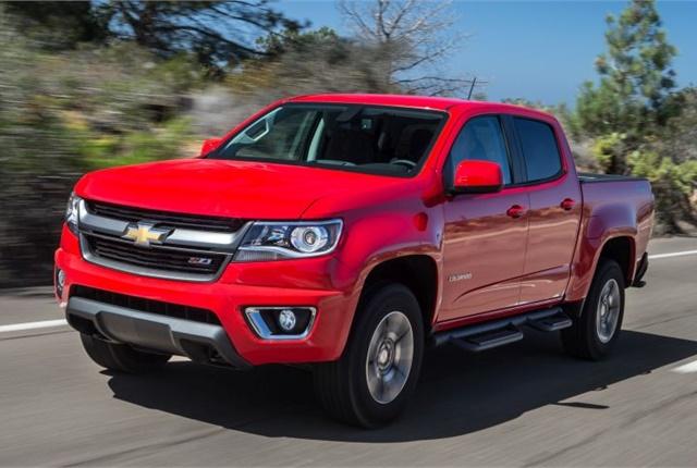 Photo of 2015-MY Chevrolet Colorado courtesy of GM.