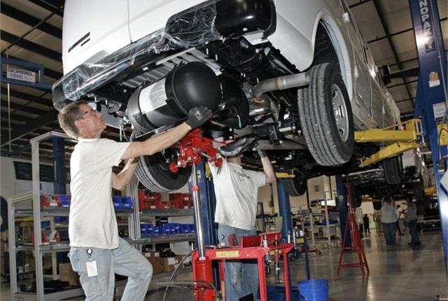 Photo of Chevrolet Express CNG upfitting courtesy of GM.