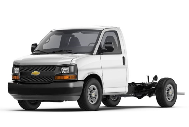 Photo of Chevrolet Express cutaway courtesy of GM.