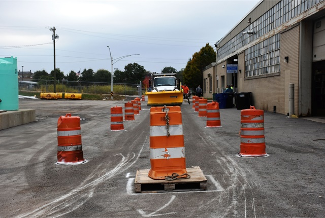 Cincinnati put its snow equipment to the test during a dry-run exercise on Oct. 31. Photo courtesy of City of Cincinnati