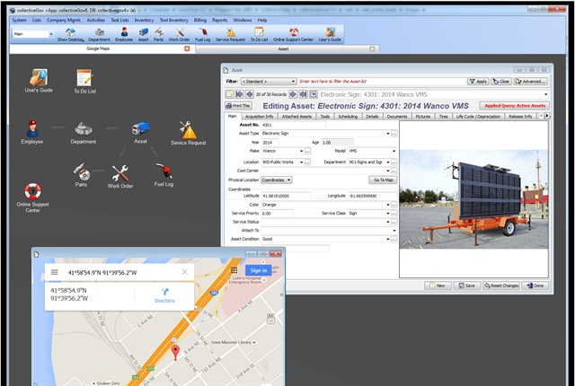 Screenshot of new collective Data software being used. Photo courtesy of Collective Data