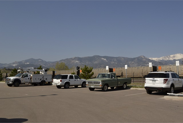 Serco maintains vehicles for Colorado Springs Utilities (pictured) and the City of Colorado Springs. File photo
