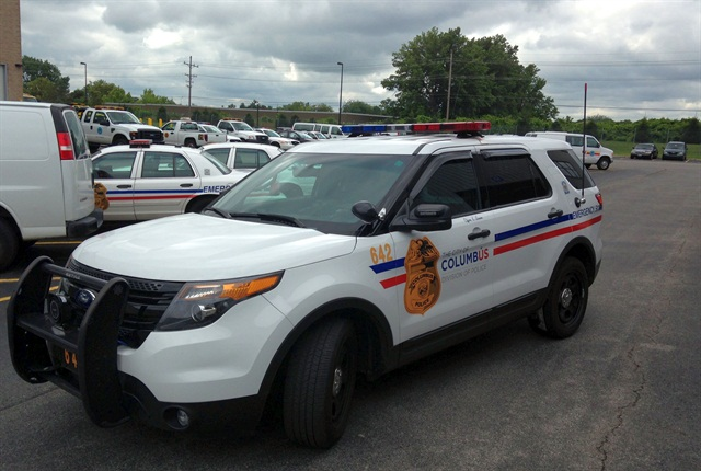 The city fleet conducted a test pilot of the Grip anti-idling device on this Ford Police Interceptor Utility. Photo courtesy of City of Columbus