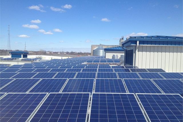 The City of Columbus, Ohio, is using solar power for its fleet facility. Photo courtesy City of Columbus.