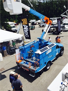 Developed in partnership with Altec and Telogis, the bucket truck was shown on June 1 at the Electric Utility Fleet Managers Conference in WIlliamsburg, Va.
