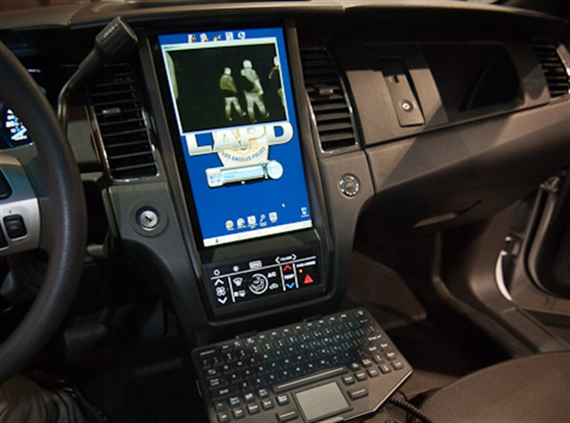 An in-dash screen replaces the rugged laptop. Photo by Mark W. Clark.