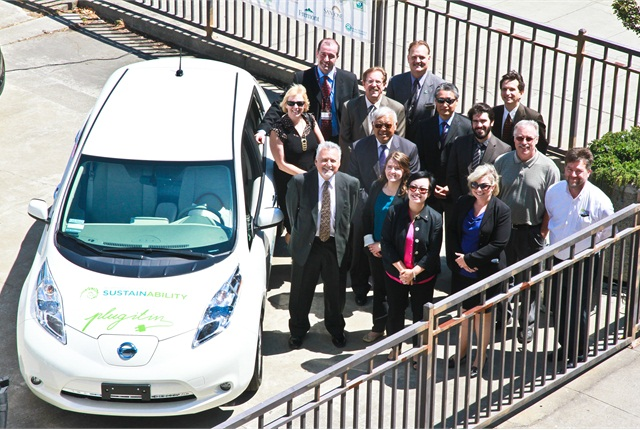Officials and agency employees gathered for the announcement of the rollout on June 8. Photo courtesy of Alameda County