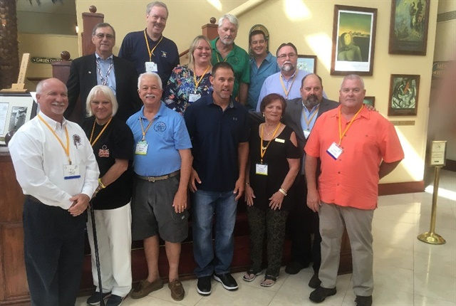 FLAGFA leaders and conference organizers are pictured here at the association's conference. Photo courtesy of FLAGFA