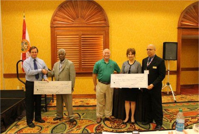 FLGAFA presented scholarships to two state colleges to assist in producing the next generation of fleet technicians. Photo courtesy of FLAGFA