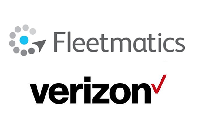 Logos courtesy of Fleetmatics and Verizon.