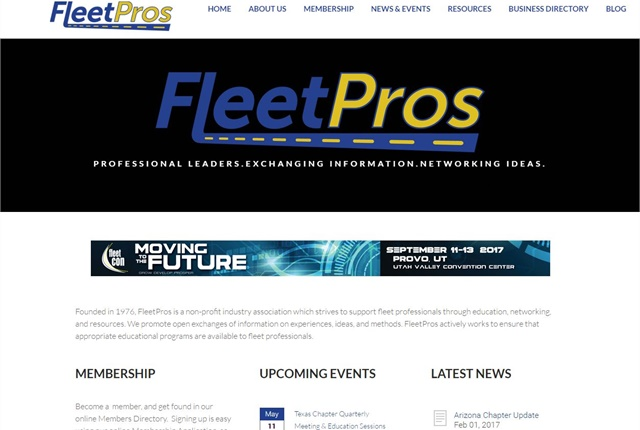Screencapture of www.fleetpros.org