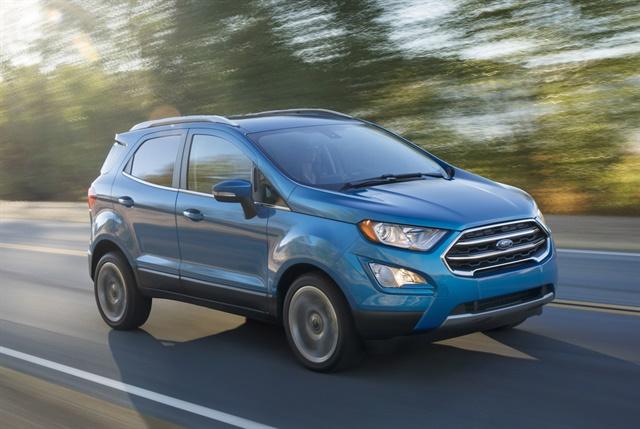 Photo of 2018 EcoSport courtesy of Ford.