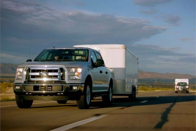 Photo of 2015 F-150 testing at Davis Dam at the Arizona-Nevada border courtesy of Ford.