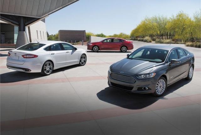 Photo 2015 Fusion Hybrid cars courtesy of Ford.