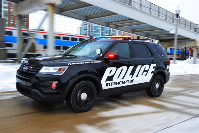 Photo of 2016 Police Interceptor Utility courtesy of Ford.
