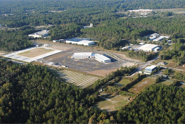 The Gainesville consolidated fleet maintenance building is 44,000 square feet and has 30 bays.