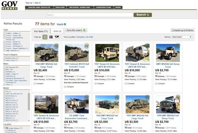 Screencapture of GovPlanet.com