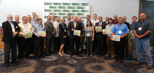 The 2013 Government Green Fleet award recipients pose with judges and sponsors at the Green Fleet Conference in Phoenix on Oct. 2.